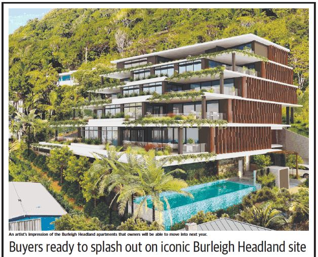Gold Coast Bulletin ONE Burleigh Headland article 16 August 2016 part 1