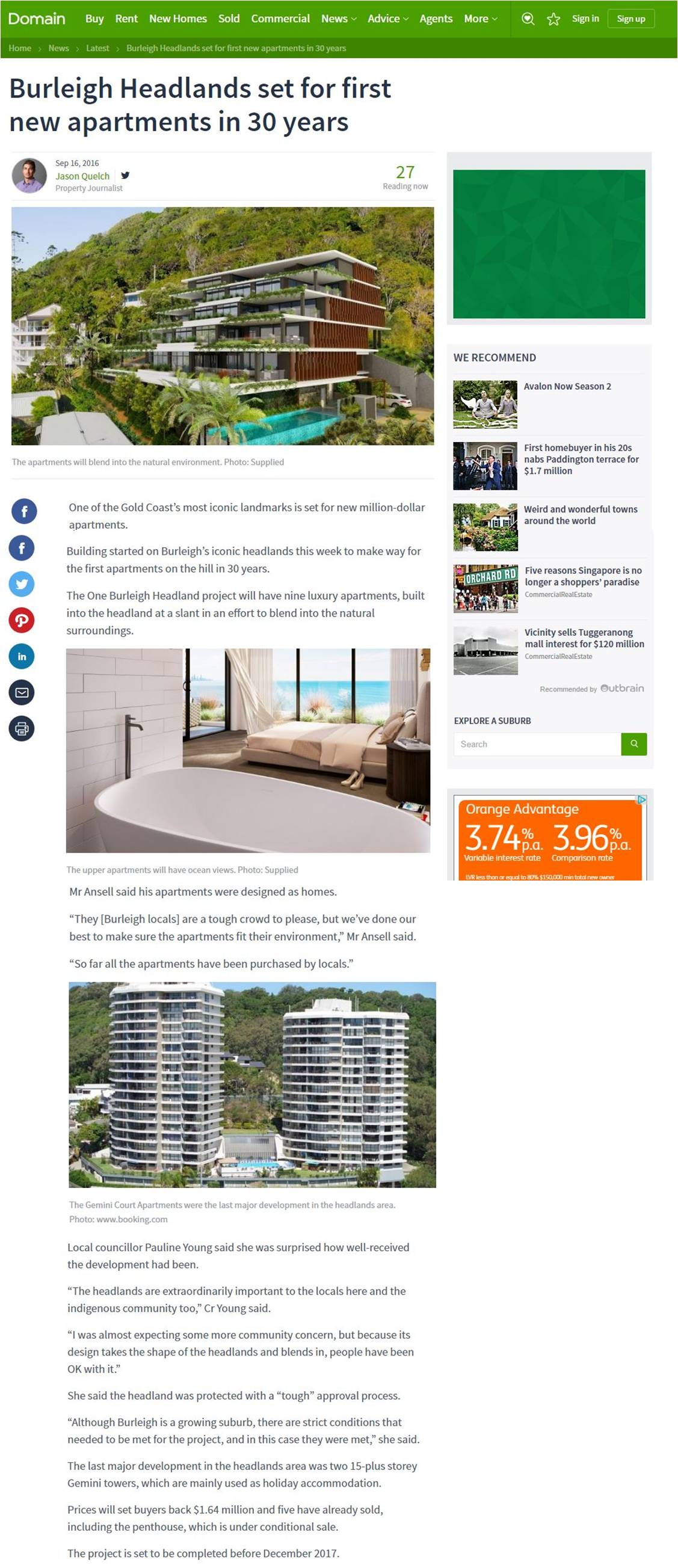 Domain article Burleigh Headland for website