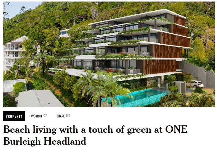 ONE Burleigh Headland article The Weekend Edition 25 Jan 2017